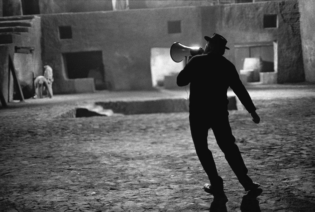 Federico Fellini on the Set of Fellini Satyricon 1969