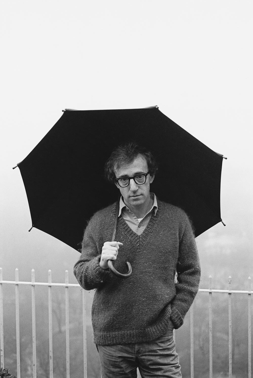 Woody Allen on his balcony NY 1979